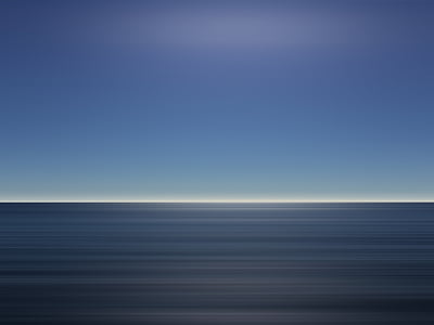 ocean, sky, blue, calm, tranquil, horizon, vacation