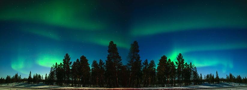 오로라, 핀란드, 핀란드 라플란드, 이나리, suomi, 북극, 라플란드