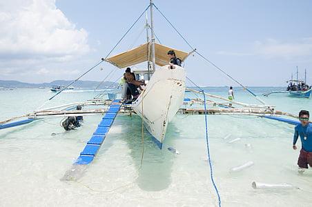 Boracay, Filipinų, paplūdimys, baltas smėlis, vandens, vasaros, Kosta