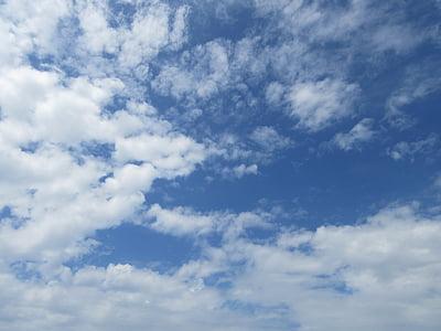 sininen taivas, säätä, pilvi
