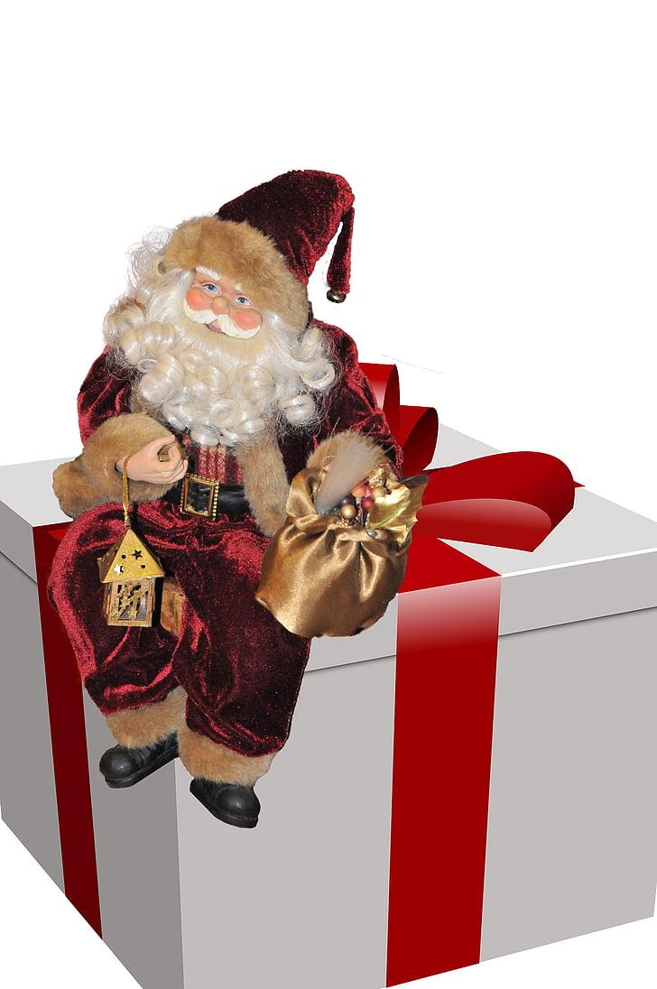 father christmas, gift, christmas, holidays, santa Claus, red, holiday