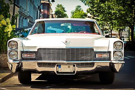 auto, Cadillac, Oldtimer, clàssic, vehicle, automoció, crom