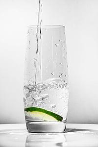 got d'aigua, llimona verda, l'aigua, vidre, beguda, frescor, got d'aigua