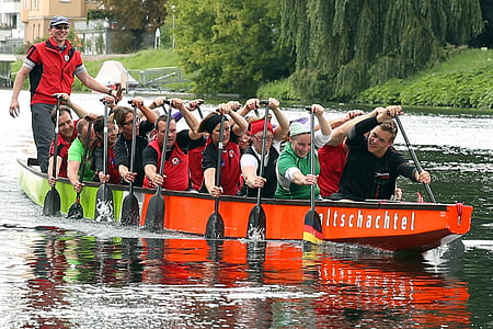 dragon boat, boot, water sports, competition, sport, tax man, dragon boat race