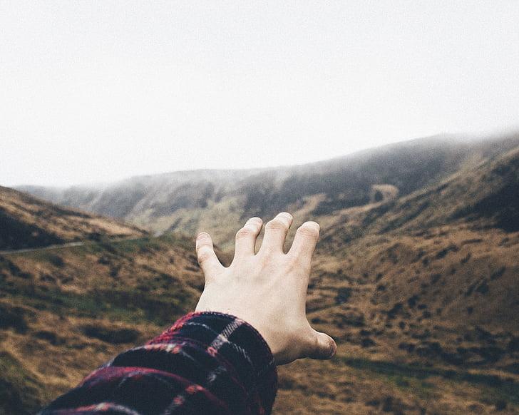 žmonės, ranka, Aukštaitijos, Rodyti, užtamsinti, lauko, Gamta