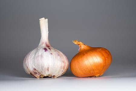 küüslauk, sibul, toidu, vürtsid, maitse, tervise, köök
