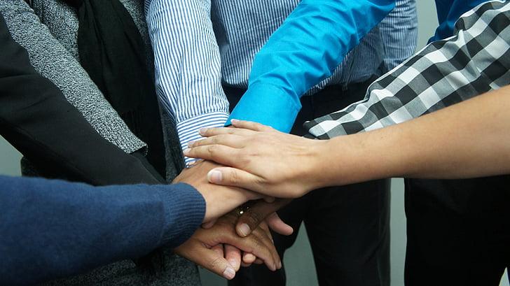 kopīgs darbs, darbabiedri, biroja, uzņēmējdarbības, komanda, cilvēki, kolēģiem