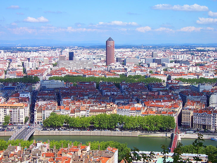 lyon, city, france, urban landscape, urban