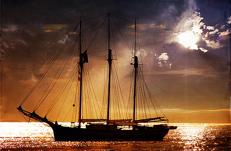sea, lake, water, ocean, wave, ship, sailing vessel