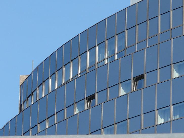 casa, edifici, façana, finestra, vidre, arquitectura, moderna