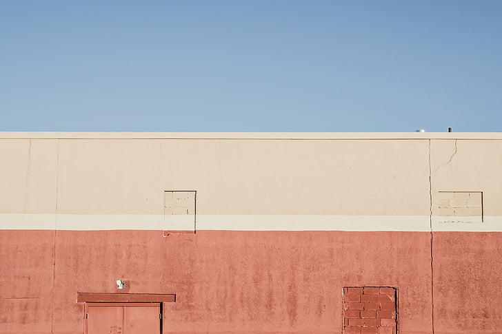 byggnad, färgglada, färgglada, hus