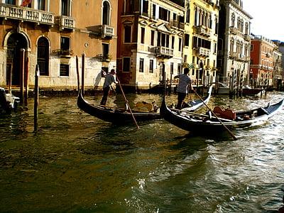 เวนิส, ช่อง, เรือ, อิตาลี, น้ำ, โรแมนติก, แกรนด์คาแนล
