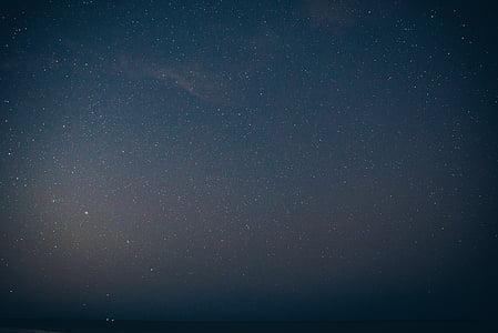 晚上, 天空, 星星, 星系, 天文学, 明星-空间, 空间