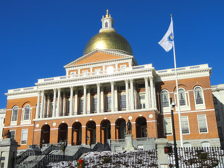 boston, massachusetts, state house, building, government, architecture, landmark
