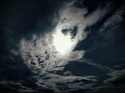 the sun, clouds, sky, light, dawn