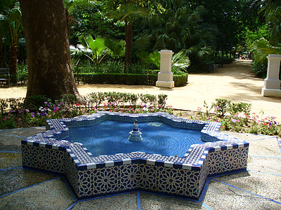 suihkulähde, Park, vesi, vesi pelit, Puutarha, Espanja
