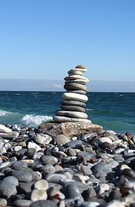 helgoland, dune, beach, rest, balance, meditation