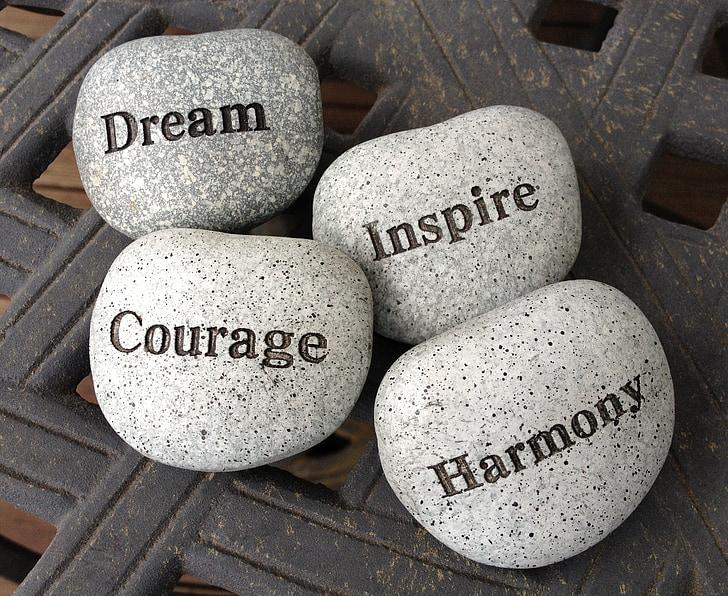 akmenys, svajonė, įkvėpti, drąsos, Harmonija, akmenų, vaizduotė