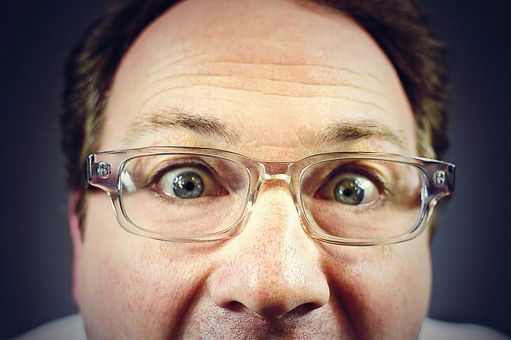 peeping tom, staring man, creepy man, middle aged man, dork, eyeglasses, crazy eyes
