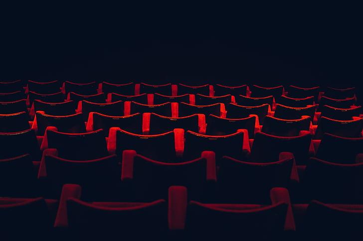 rød, løperen, bakgrunn, illustrasjon, filmer, mørk rød, kino