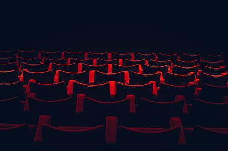 red, carpet, background, illustration, movies, dark red, movie theatre
