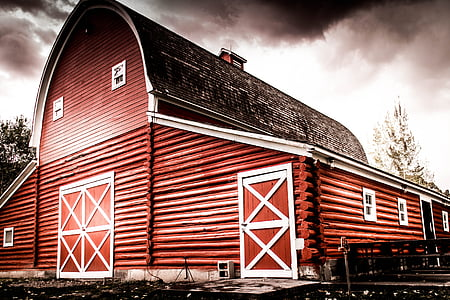 barn, red, rural, farm, red barn, country, wood