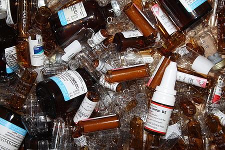 医療, 薬物, 医薬品, アンプル, ボトル