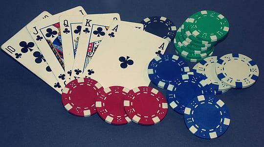 póker, Royal Flush-t, kártyajáték, Win, szerencsejáték, póker játék, kaszinó