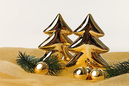 Natal, pohon cemara, emas, motif Natal, Salam Natal, kartu Natal, kilauan