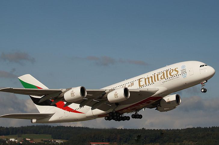 začátek, Jet, Airbus, letadla, Odjeď