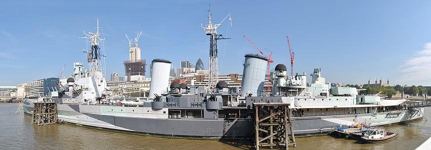 HMS belfast, London, muuseum, Thamesi jõe, huvipakkuvad, Vaatamisväärsused, laeva