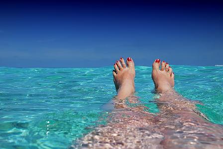 Malediwy, ile, Plaża, Słońce, wakacje, Ocean, Natura