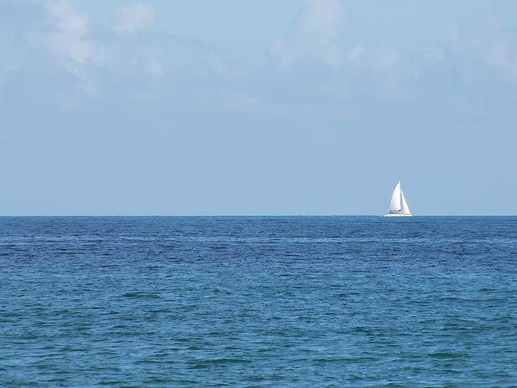 thuyền buồm, thuyền, tôi à?, Port, màu xanh, thuyền buồm, Bình tĩnh