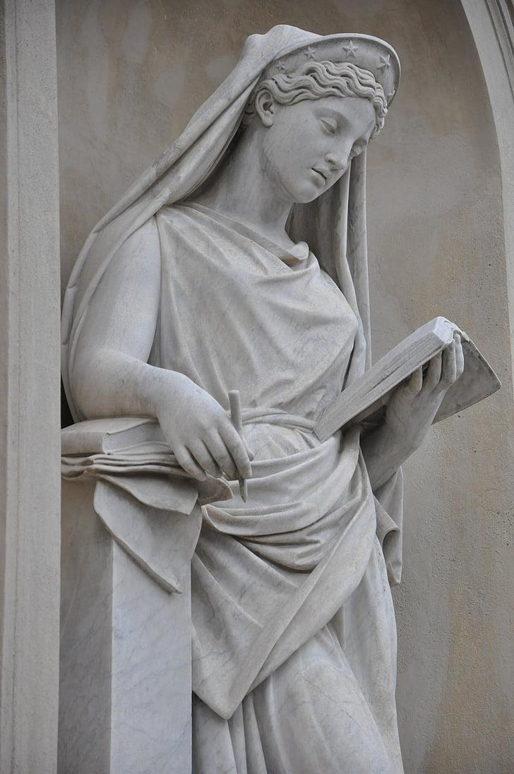 tác phẩm điêu khắc, kiến trúc, bức tượng, Đài tưởng niệm, người phụ nữ, zadumanie, hòa bình của tâm