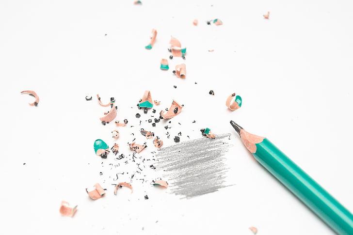молив, образование, острилка, изкуство, проект, много цветни, бяло