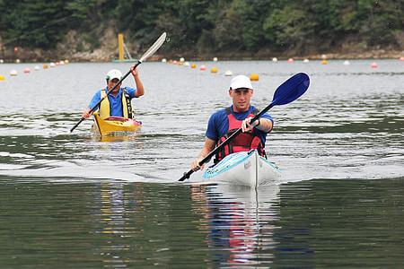 kayaking, kayaker, sport, kayak, competition, water sports, water
