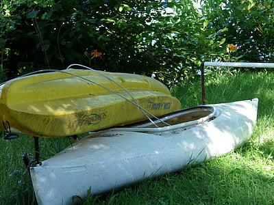 canoë, kayak, sport, eau, canoë-kayak, kayak, activité