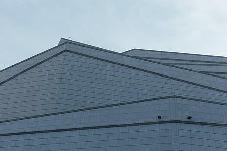 arhitektuur, kaasaegne, kaasaegne hoone, hoone välisilme, ehitatud struktuur, sinine
