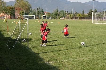 football, children, game, sport