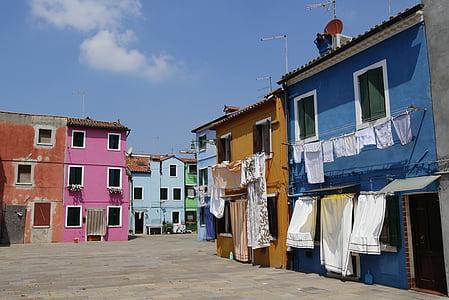 burano, อิตาลี, บ้าน, เวนิส, บ้านที่มีสีสัน, บ้านที่มีสีสัน, windows
