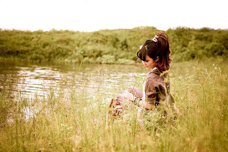 dekle, reka, vietnamščina, narave, jezero, mladi, Las