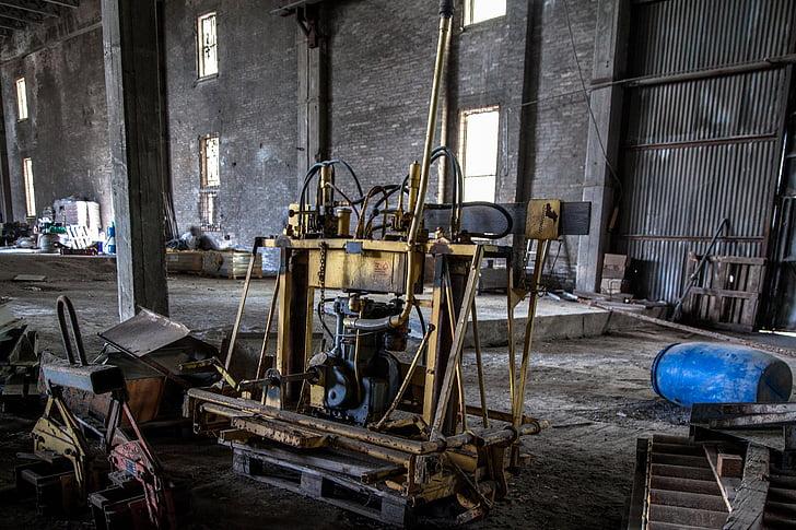 maquinària, destrucció, fàbrica abandonada, buit, rovellat, indústria, abandonat