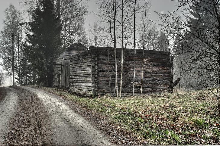 Szwecja, wsi, Dom, obszarów wiejskich, krajobraz, Domek, drewno