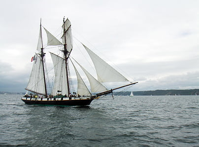sailboat, former, brest, nautical Vessel, sailing, sail, sailing Ship