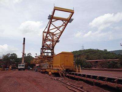 gruvdrift, järnmalm, Mine, transport, maskiner, järn, mineral