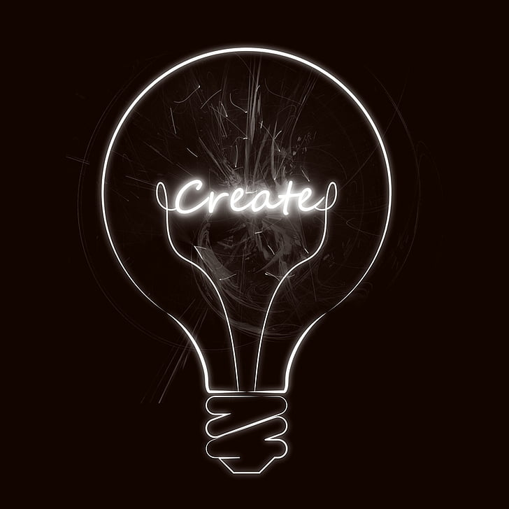 ide, pencerahan, insiden, kreativitas, lampu, bersinar, imajinasi