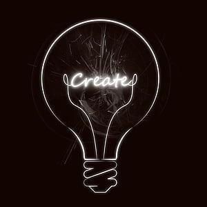 idea, iluminación, incidencia, creatividad, bombilla de luz, que brilla intensamente, imaginación