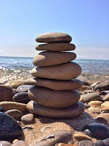 Roca, equilibri, pedra, Zen, harmonia, pila, còdols