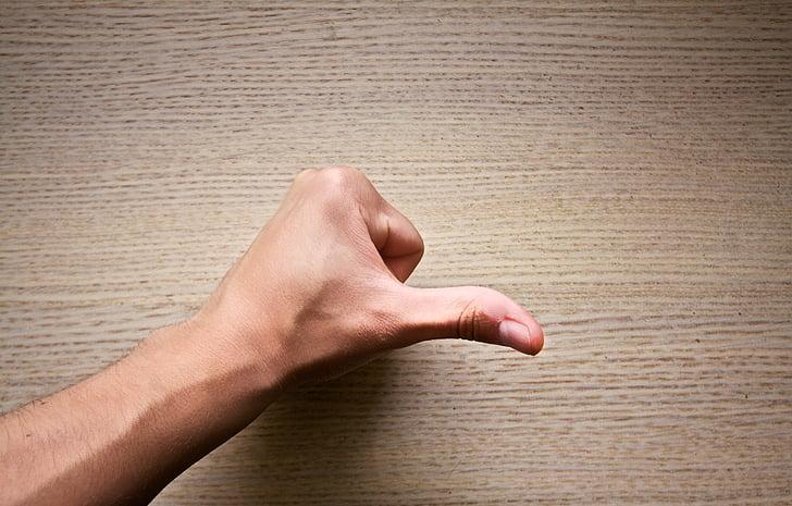 peukkua, peukalo, käsi, positiivinen, Hyvä, hyväksyä, sormi