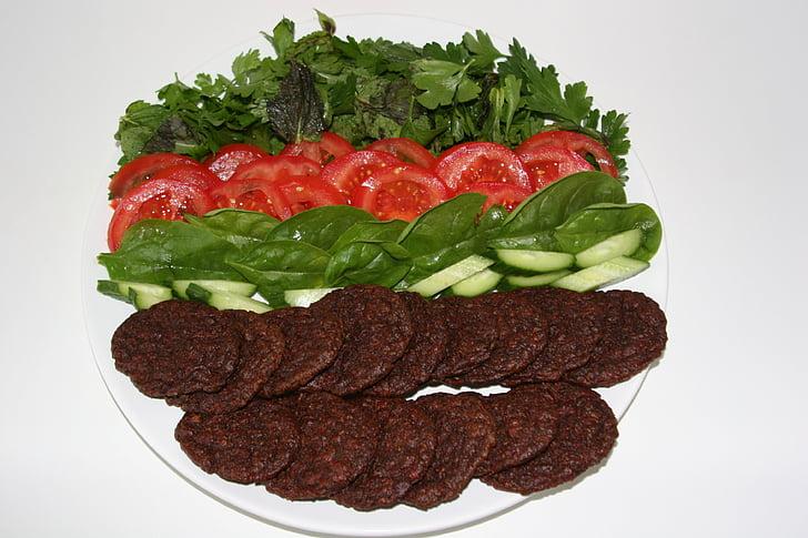 veganski, burgeri, hrana, ploča, Peti, Vege, zdrav